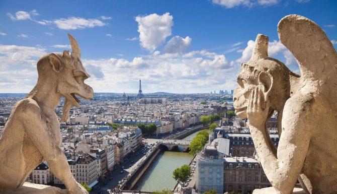 Гаргульи Париж